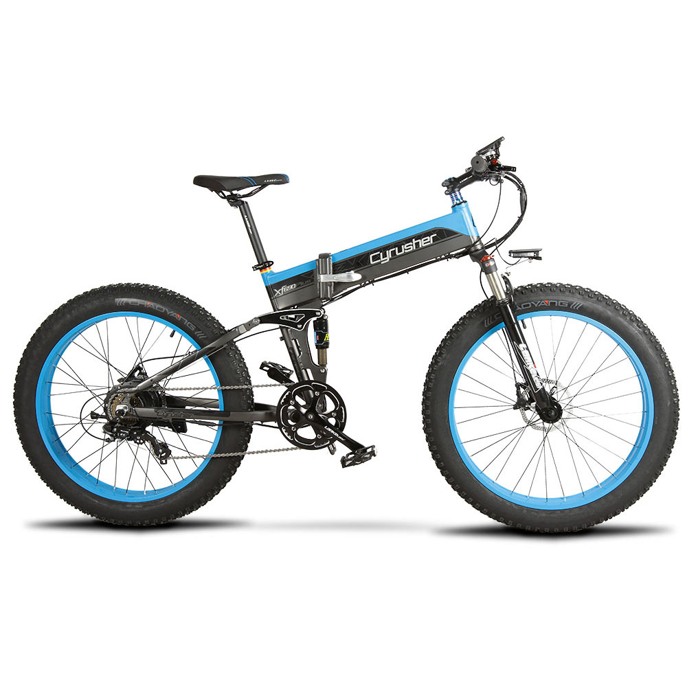 xf690 blue black 500w 48v 10ah 7sp fat tire electr 10103