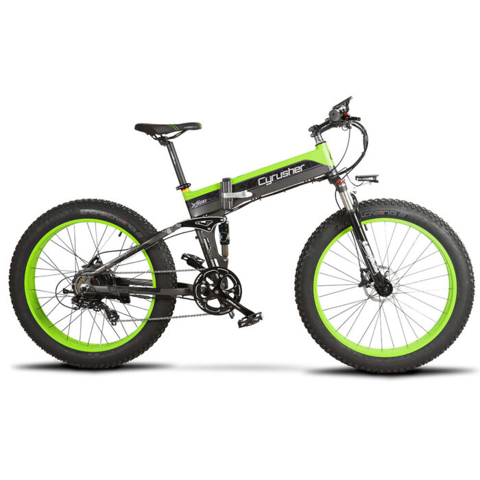 xf690 green black 500w 48v 10ah 7sp fat tire elect 10097