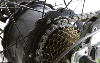 xf690 green black 500w 48v 10ah 7sp fat tire elect 10102