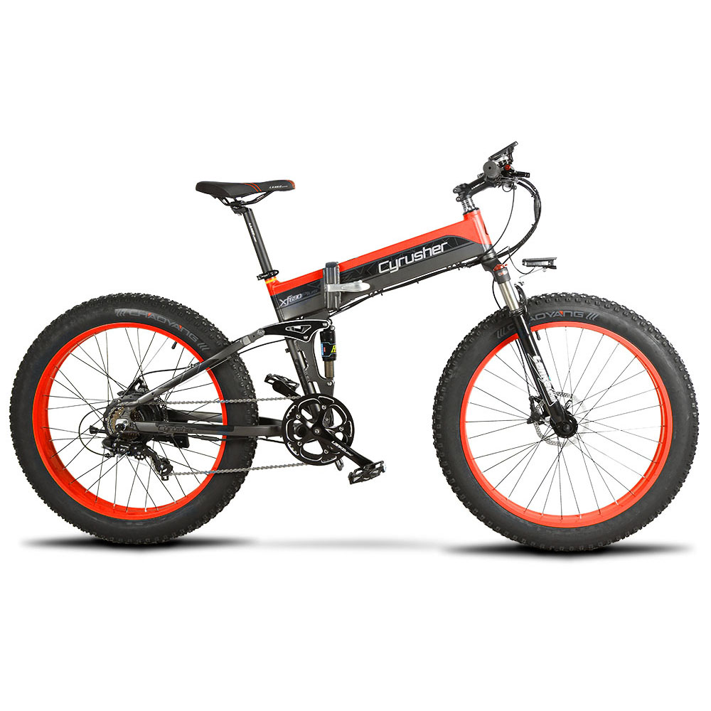 xf690 red black 500w 48v 10ah 7sp fat tire electri 10109