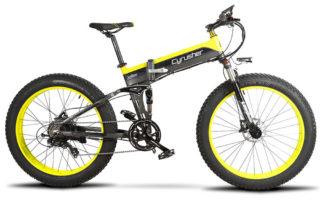 xf690 yellow black 500w 48v 10ah 7sp fat tire elec 10115