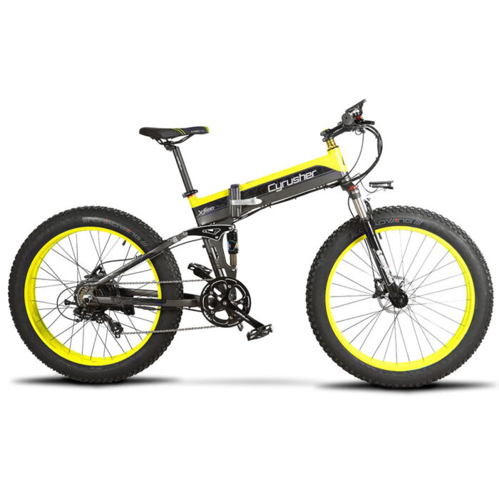 xf690 yellow black 500w 48v 10ah 7sp fat tire elec 10115