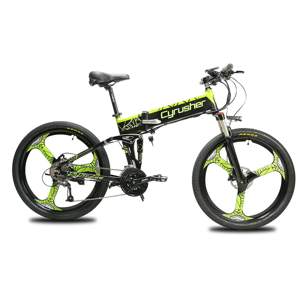xf770 green folding electric mountain bike full su 10165