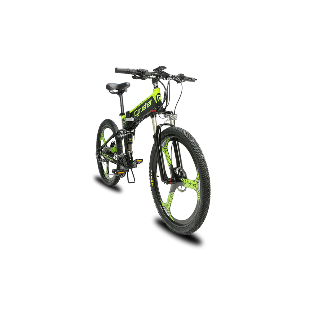 xf770 green folding electric mountain bike full su 10166