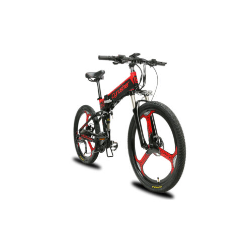xf770 red folding electric mountain bike full susp 10160