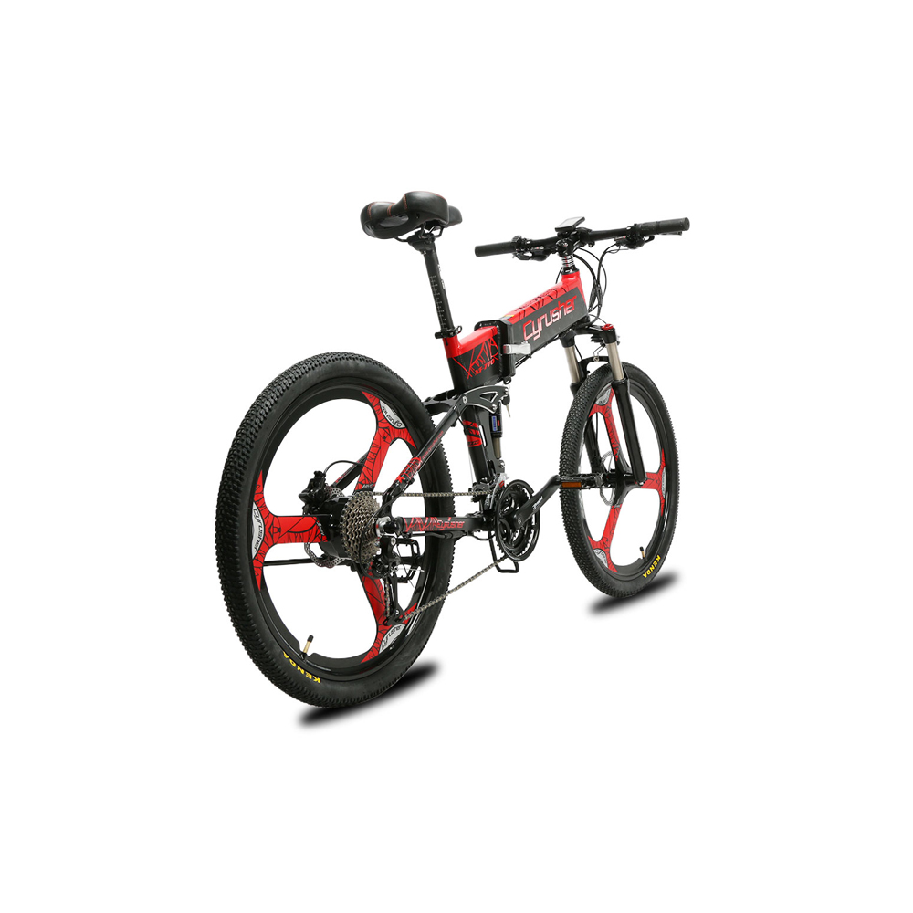 xf770 red folding electric mountain bike full susp 10161