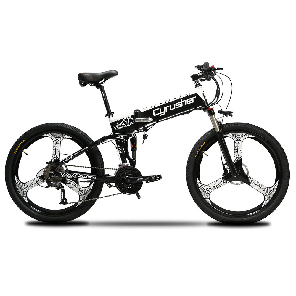 xf770 white folding electric mountain bike full su 10153