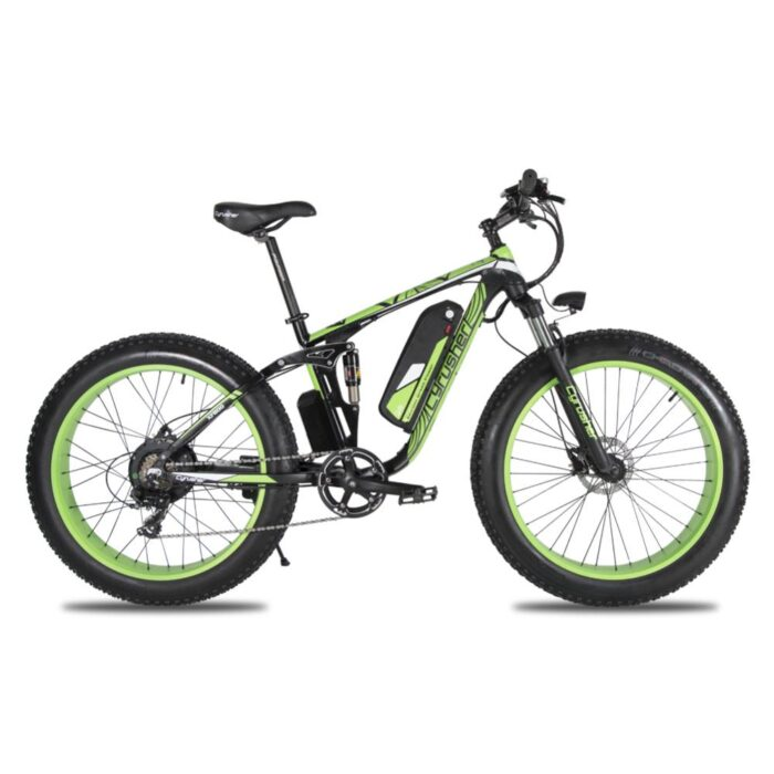 xf800 green 1000w 48v fat tire mountain e bike ful 10013