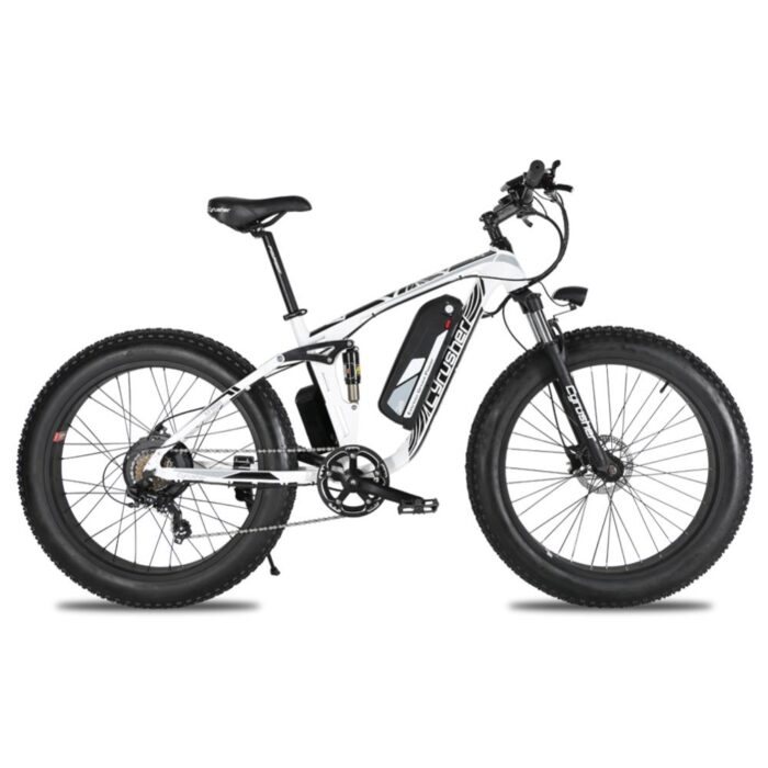 xf800 white 1000w 48v fat tire mountain e bike ful 10019